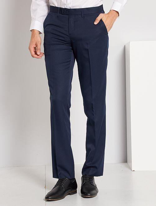 Pantalón de traje corte recto                                         azul marino