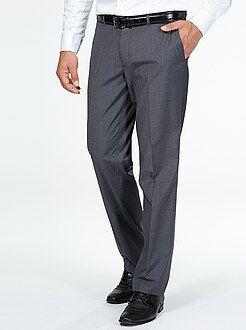 Hombre Pantalón de traje corte recto