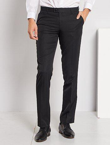 Hombre talla S-XXL - Pantalón de traje corte recto - Kiabi 221d4bf399b1
