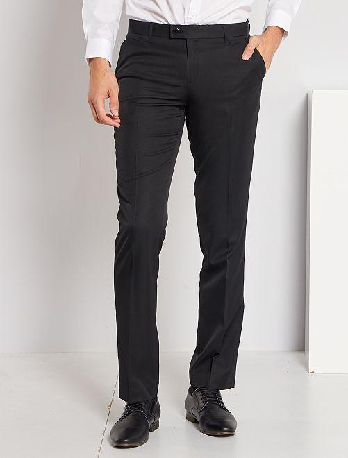 Pantalón de traje corte recto                                         negro