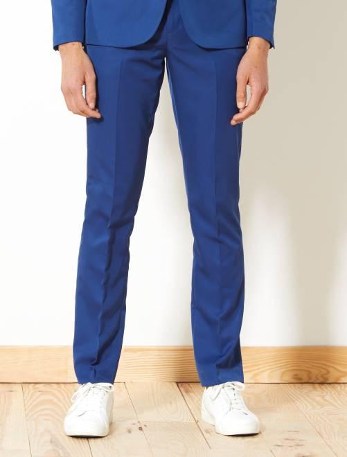 Pantalón de traje de corte ajustado                                                     azul Hombre