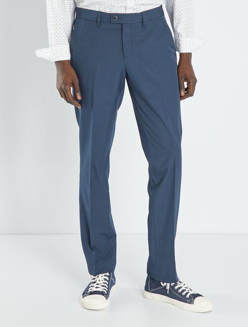 Pantalón de traje de corte ajustado                                         azul marino