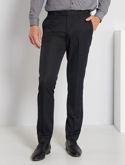 Pantalón de traje de corte ajustado                                         negro