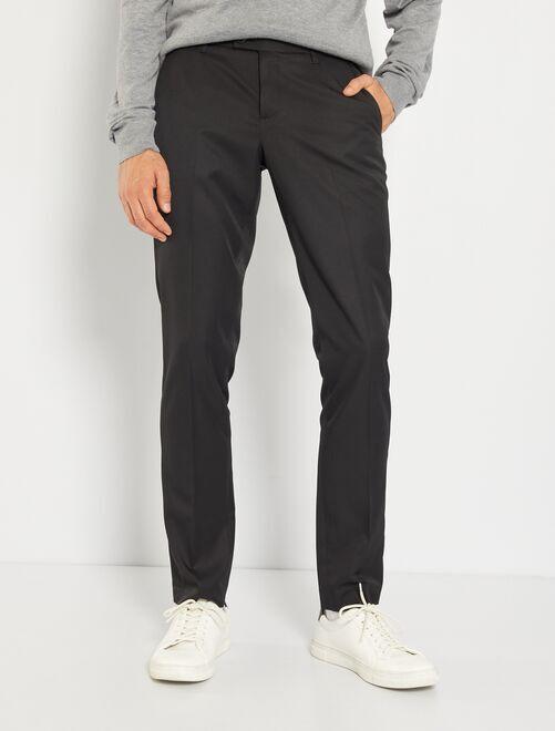 Pantalón de traje de corte ajustado                                                     negro Hombre