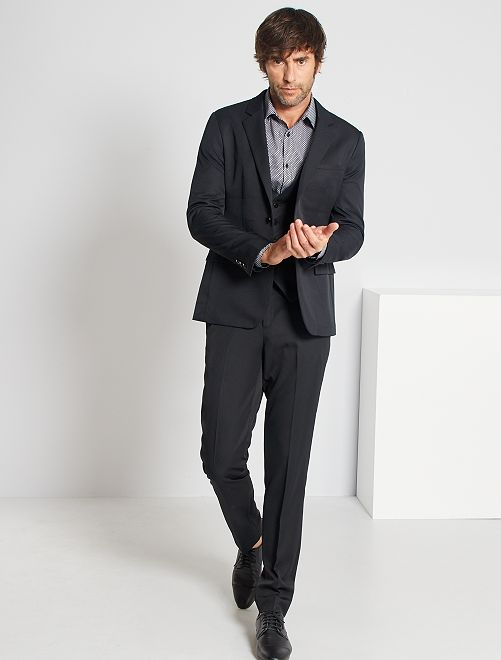 Pantalón de traje de corte ajustado Hombre - negro - Kiabi - 15 d3f15ae00df