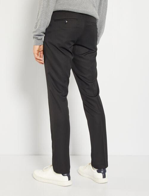 Pantalón de traje de corte ajustado Hombre - azul marino - Kiabi ... ba2f1e40e23