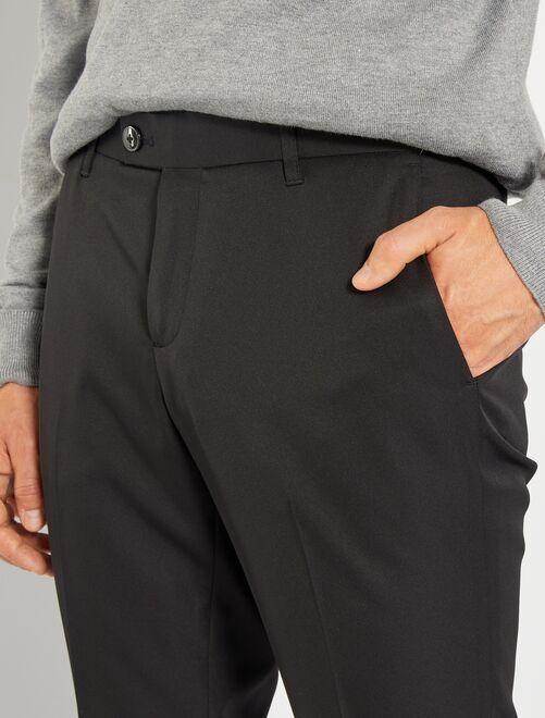 Pantalón de traje de corte ajustado Hombre - negro - Kiabi - 15 08559ba003e8