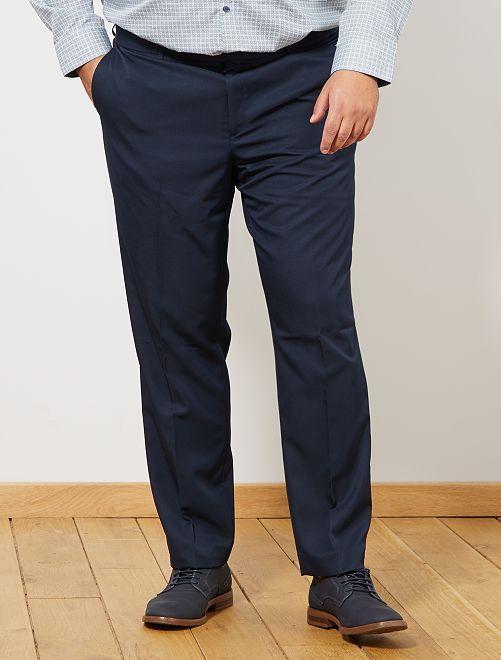 Pantalón de traje liso                                         azul marino
