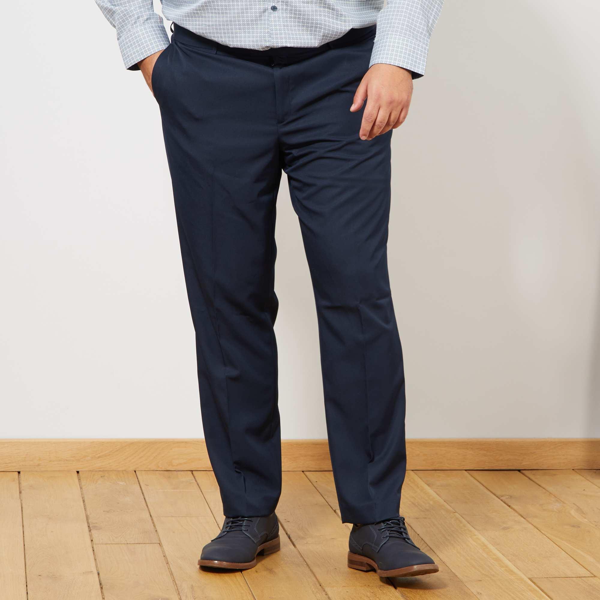 Pantalón de traje liso Tallas grandes hombre - azul marino - Kiabi ... 9b9498c7c40