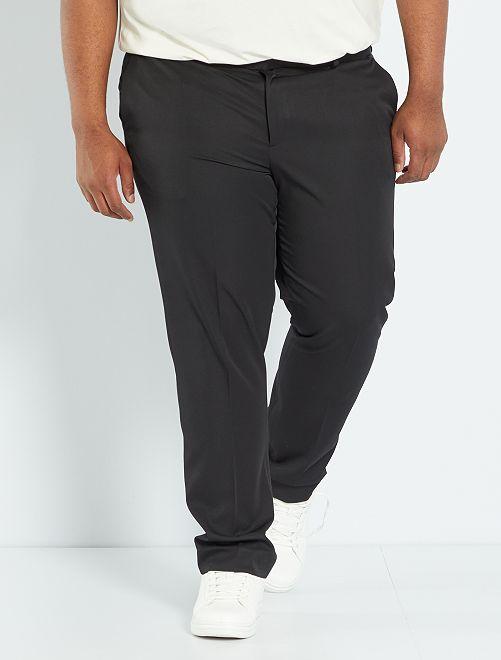 Pantalón de traje liso                     negro