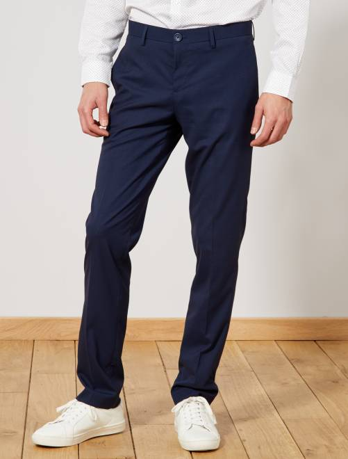 Pantalón de traje recto caviar                             azul marino Hombre