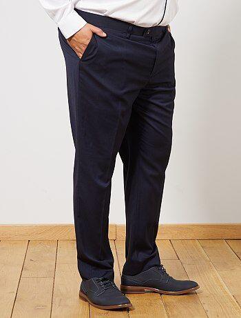 a2c7fb2619 Tallas grandes hombre - Pantalón de traje regular - Kiabi