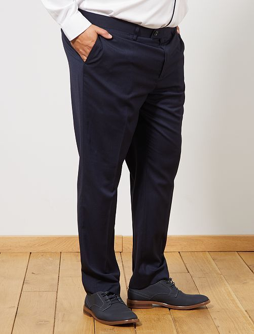 Pantalón de traje regular                             azul Tallas grandes hombre