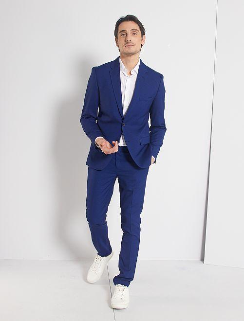 Pantalón de traje skinny                     azul