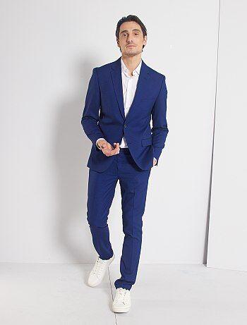 Pantalon De Traje Skinny Hombre Talla S Xxl Azul Kiabi 6 00