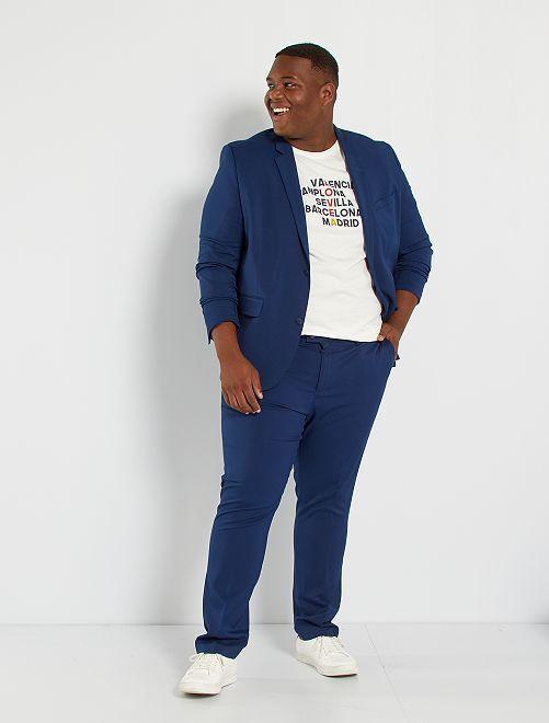 Pantalón de traje slim                                                     AZUL