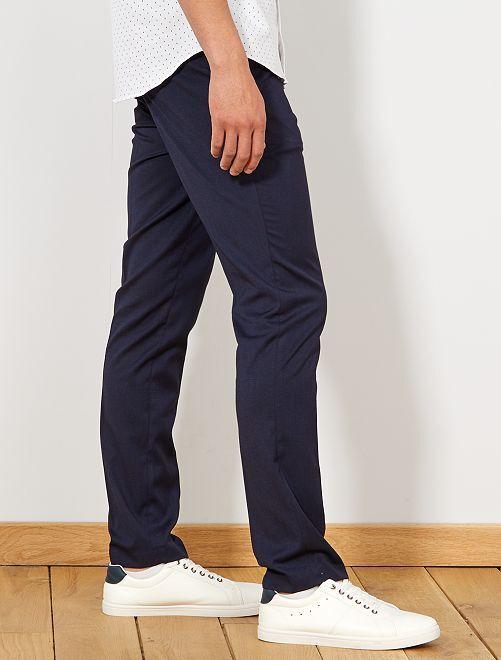 82f8dc46d7ffd Pantalón de traje slim caviar Hombre - azul marino - Kiabi - 30