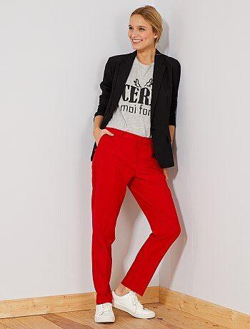Mujer talla 34 a 48 - Pantalón de vestir recto - Kiabi 5fb5548a1cff