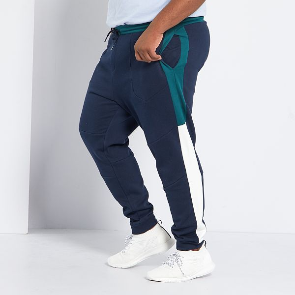 Pantalon Deportivo Colorblock Eco Concepcion Tallas Grandes Hombre Azul Kiabi 20 00