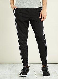 Hombre - Pantalón deportivo con bies a contraste - Kiabi