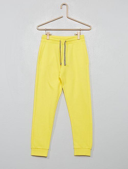 Pantalón deportivo de felpa                                                                                                                 AMARILLO