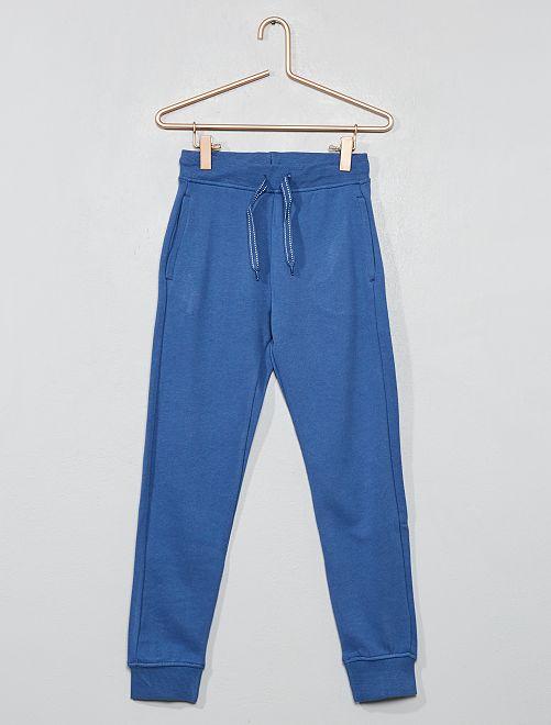 Pantalón deportivo de felpa                                                                                         azul oscuro Chico