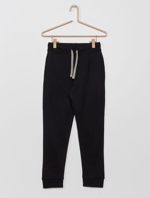Pantalón deportivo de felpa                                                                                                     negro Chico