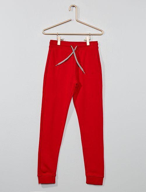 Pantalón deportivo de felpa                                                                                                     ROJO Chico
