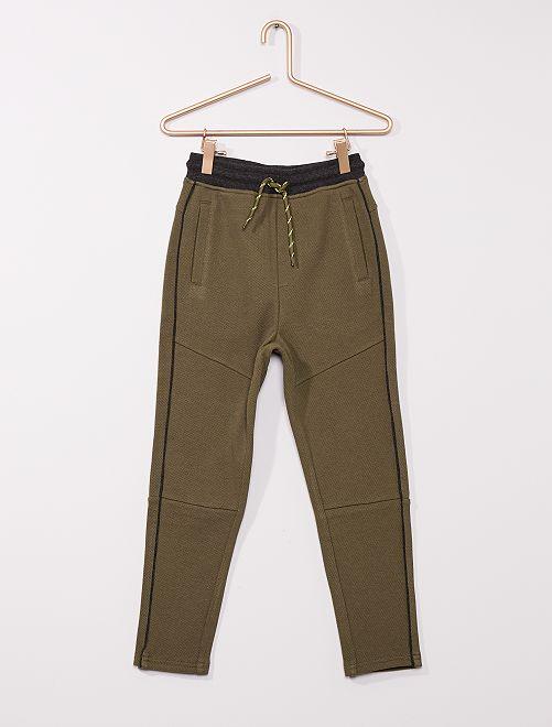 Pantalón deportivo de piqué de algodón                                                     KAKI