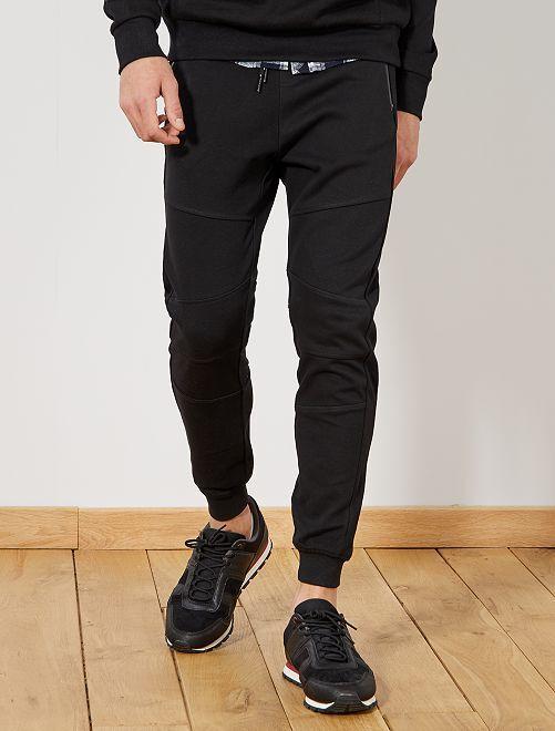 Pantalón deportivo de piqué de algodón                                         negro Hombre