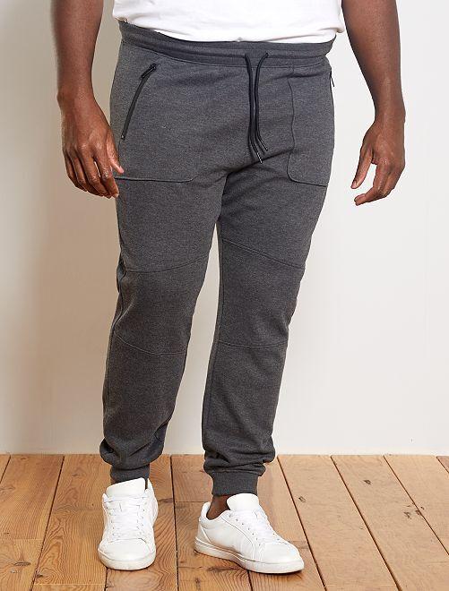 Pantalón deportivo de piqué                             GRIS