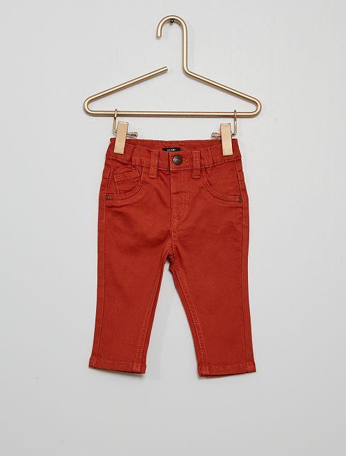 Pantalón 'eco-concepción'                                                                                                     rojo teja