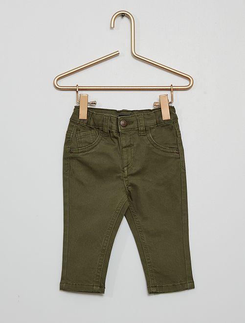 Pantalón 'eco-concepción'                                                                                                     verde oscuro