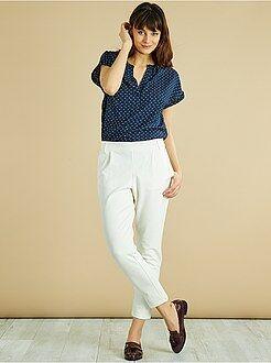 Mujer - Pantalón elástico con pinzas 'JDY' - Kiabi