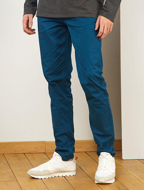 Pantalón entallado con 5 bolsillos L36 +1m90                                                                                         azul poseidon