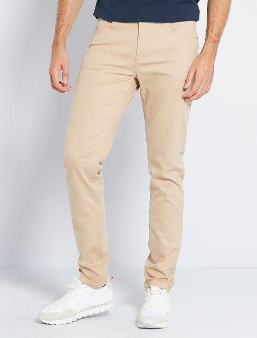 Pantalón entallado con 5 bolsillos L36 +1m90                                                                             BEIGE