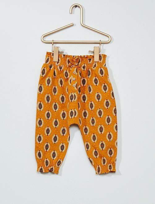 Pantalón estampado                                         AMARILLO