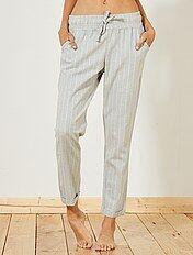Pantalón estampado de franela