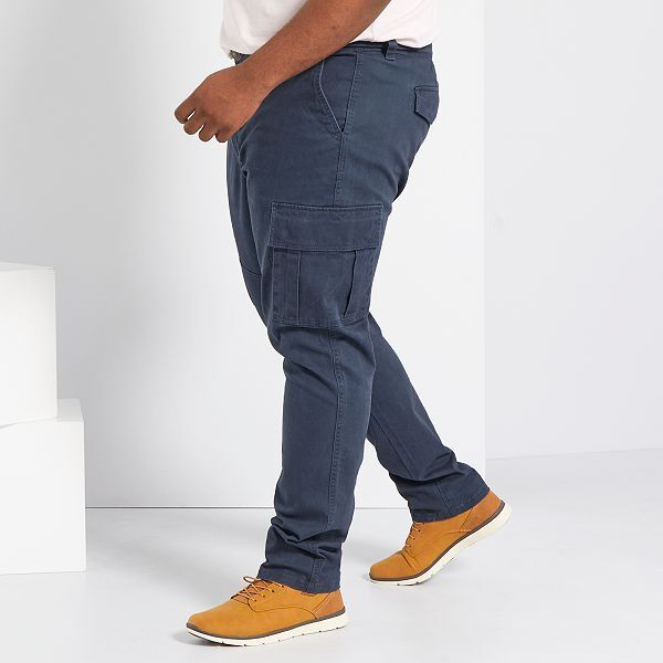 Pantalon Fitted Tipo Cargo Tallas Grandes Hombre Azul Kiabi 15 00