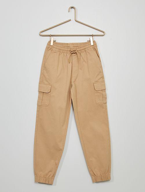 Pantalón jogger cargo                                                                 BEIGE