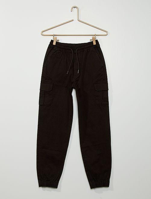 Pantalón jogger cargo                                                                 negro