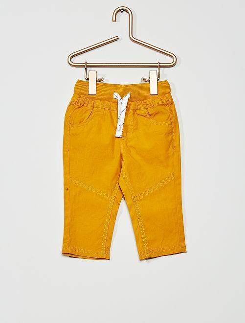 Pantalón ligero de popelina                                                                                         amarillo bronce