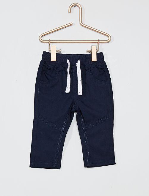 Pantalón ligero de popelina                                                                             azul