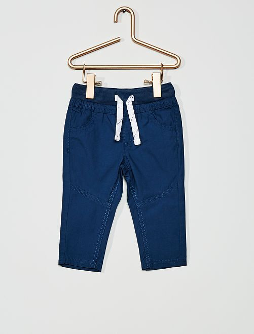 Pantalón ligero de popelina                                                                                         azul oscuro