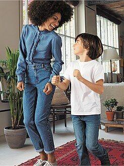 Mujer - Pantalón mom con talle muy alto - Kiabi