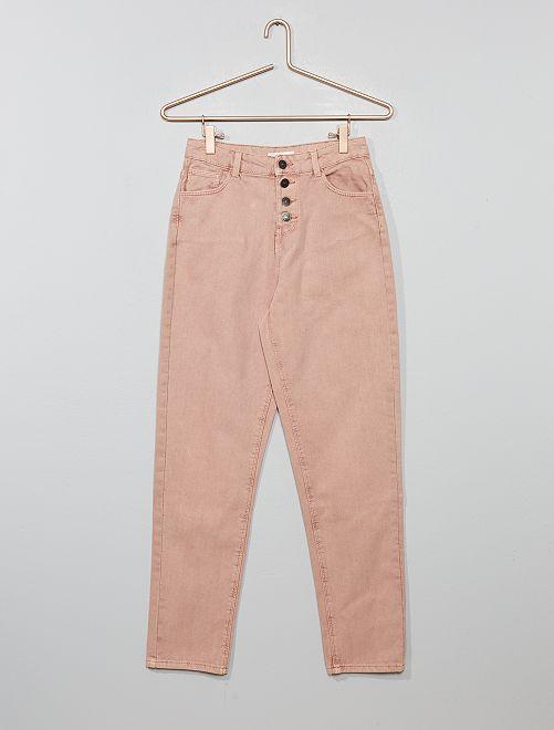 Pantalón mom de botones                             rosa Joven niña