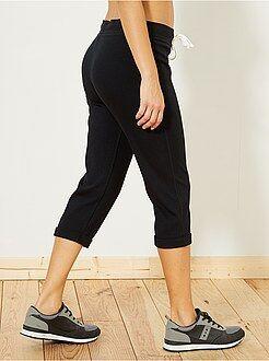 Mujer - Pantalón pirata deportivo elástico - Kiabi