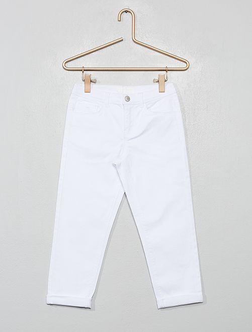 Pantalón pirata skinny                                                                                         blanco