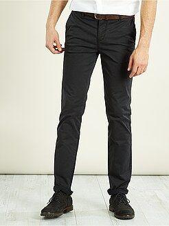 Pantalones slim - Pantalón pitillo chino elástico
