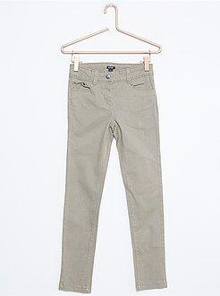 Pantalón pitillo de algodón